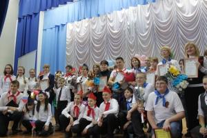 Участники конкурса - дети и их вожатые