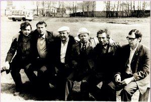 Фото из архива А.И. Давыдова. Болельщики на стадионе «Урожай»